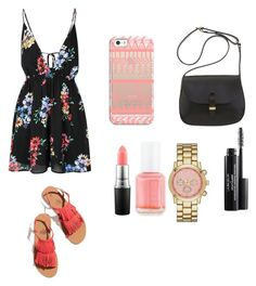 """Untitled #171"" by barbarapalvine22 ❤ liked on Polyvore featuring Glamorous, Essie, MAC Cosmetics, Mimi Berry, Laura Geller, Merona and Casetify"