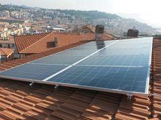 Impianto fotovoltaico ad ANCONA da 3,00 kWp su copertura - 12 moduli BRANDONI in SILICIO POLICRISTALLINO da 250 Wp - UTILIZZO di OTTIMIZZATORI di POTENZA (SOLAREDGE)