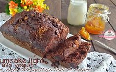 Plumcake light allo yogurt con cacao e marmellata light di arance e zenzero (96 calorie a fetta)