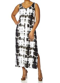 Nice Love Collection Maxi Dress – Plus Size, Stretch Spandex, Tie-Dye Print