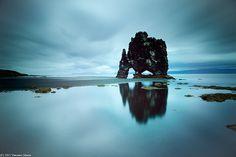 Black door  North west Iceland