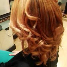 #hairfire #firecolor #caramel #balayageombre #Victormaisonbeautè