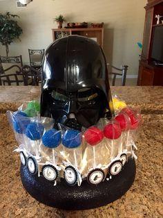 Star Wars cake pop display
