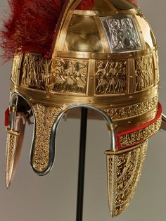 Anglo-Saxon helmet from AD. Ancient Egyptian Art, Ancient Rome, Ancient History, Ancient Aliens, Ancient Greece, Anglo Saxon Kings, Anglo Saxon History, European History, American History