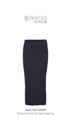 Check out this product I've found using the 9straatjesonline app:  Slit Sweat Skirt Jula Dark Sapphire http://www.9straatjesonline.com/nl/slit-sweat-skirt-jula-dark-sapphire.html