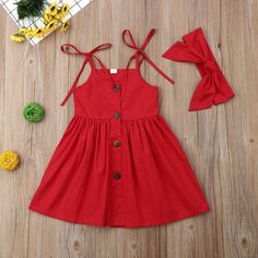 Baby girl active / basic solid color sleeveless above the knee Baby Mädchen aktiv / Basic einfarbig ärmellos über dem Knie Baumwollkleid rot … Baby girl active / basic solid color sleeveless above the knee cotton dress red …, - Baby Girl Frocks, Frocks For Girls, Kids Outfits Girls, Toddler Girl Dresses, Little Girl Dresses, Girl Outfits, Newborn Baby Girl Dresses, Girls Dresses, Cute Toddler Girl Clothes
