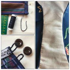 Broderimontering av skjorte til nordlandsbunad