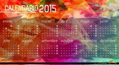 Calendario 2015 con fondo poligonal. El año 2015 se acerca, y queremos celebrar contigo un nuevo año con nuevos proyectos y fechas, usa este genial calendario para marcarlas. High quality JPG included. Under Commons 4.0. Attribution License.
