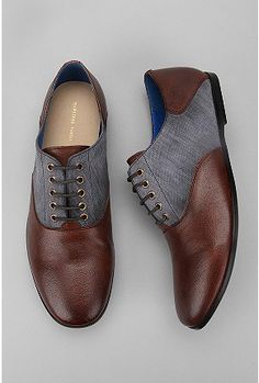 Leather Chambray Oxfords***