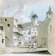 Charles Robert Cockerell.1810.Άποψη Μυκόνου.