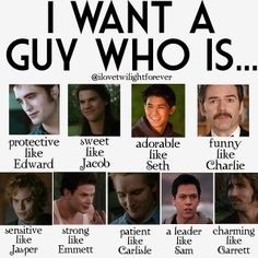 perfect guy: combination of twilight characters