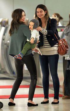 Miranda Kerr, Flynn Bloom and Lily Aldridge