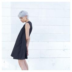 Perfectly simple // in new arrival dress DE0 - also available in white #oakandfort