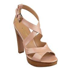 8aff67c0456 Nine West Elisa open toe platform sandals in Natural leather.