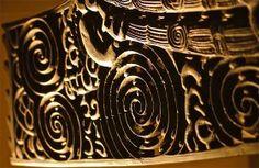Intricate patterns; Maori canoe detail; Auckland Museum Institute; Auckland, North Island, New Zealand.  January 2014.