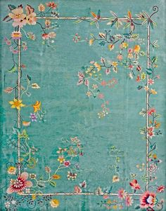 Chinese Art Deco carpet  circa 1930.