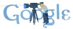 Theo Angelopoulos' 77th Birthday [77 лет со дня рождения Теодороса Ангелопулоса] /This doodle was shown: 27.04.2012 /Countries, in which doodle was shown: Greece