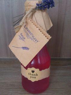 Růžový levandulový sirup - klid a harmonie v lahvičce Korn, Christmas Stockings, Gift Wrapping, Holiday Decor, Health, Home Decor, Syrup, Paper Wrapping, Homemade Home Decor