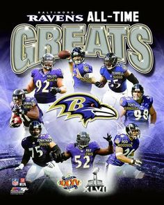 Baltimore Ravens All Time Greats Composite Sports Photo x Rod Woodson, Terrell Suggs, Raven Logo, Nfl Baltimore Ravens, Orioles Baseball, Sports Wreaths, European Football, American Football, Nfl Fans