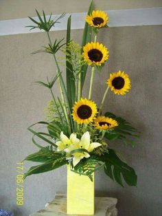 high style sunflowers.this does make a statement