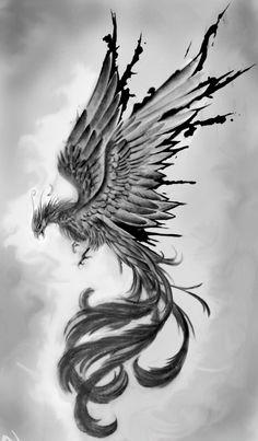 Future Tattoos, New Tattoos, Cool Tattoos, Fenix Tattoo, Thor Tattoo, Phoenix Drawing, Small Phoenix Tattoos, Black Work, Minimal