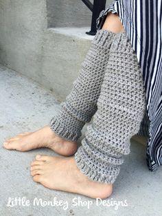 Crochet Pattern Leg Warmer Womens Boot Cuffs by LittleMonkeyShop