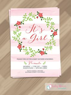 free pdf template baby girl invitation template