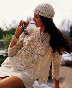 Blusas Rendadas em Crochê da Moda - Confira Lindos Modelos e Gráficos