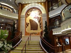 Cunard Cruise Line History: Shipbuilding Style & Ship Interior Decor Queen Elizabeth Cruise, Cunard Queen Elizabeth, Cruise Travel, Cruise Vacation, Cunard Cruise Line, Cunard Ships, Pavement Design, Floating Hotel, Beyond The Sea