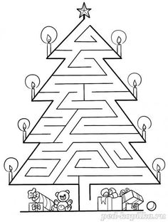 Christmas Worksheets Kindergarten, Preschool Worksheets, Christmas Activities, Christmas Crafts For Kids, Christmas Colors, Preschool Activities, Christmas Holidays, Mazes For Kids, Theme Noel