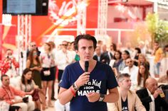 Just a kid from Havas - Havas CEO Yannick Bollore at the #HavasCafe press conference.