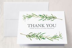 Simple Sprigs Thank You Cards by Erin Deegan at minted.com