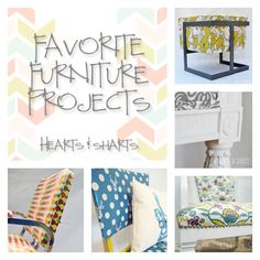 Furniture Reupholstery Projects | Hearts Sharts | www.heartsandsharts.com