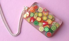 Fruit Salad Necklace - Jelly Button Jewellery