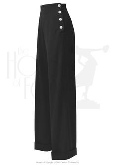 1940s Swing Trousers - Black