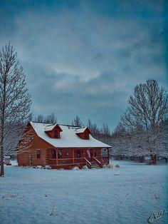 """Captivating, lovely, perfectly-serene winter setting."""