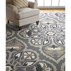 Found it at Wayfair - Pierre Pewter Area Rug