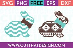 Easter Bunny with Bow Aztec and Wavy Pattern Cutting File This Free SVG Cutting File contains the following formats: – DXF File EPS File SVG File PNG File Which Machines can I use the File with? You can use these Files with your Silhouette or Cricut Cutting Machines. If you are using another make of …