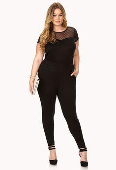 Forever 21 Street-Femme Mesh Jumpsuit in Black | Lyst