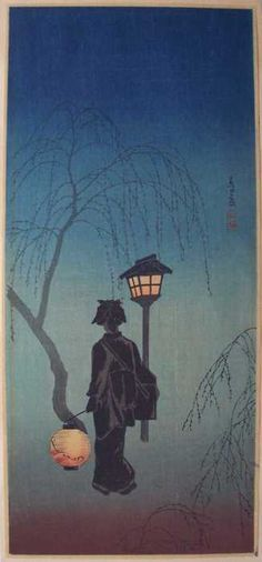 "yama-bato:  Shotei  ""Spring Evening"" (""Haru no Yoi"")  Date ca1924-early 30's (in 1936 Watanabe Catalogue)"