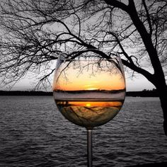 *The beauty of a sunset in a glass of wine. Beso de Vino - Expolore the best and the special ideas about Wine time Wine Photography, Creative Photography, Amazing Photography, Splash Photography, Reflection Photography, Travel Photography, Pretty Pictures, Cool Photos, Wine Art