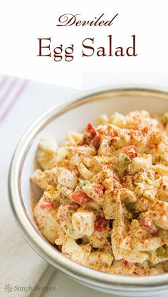 Deviled Egg Salad ~ An egg salad made in the style of deviled eggs ...