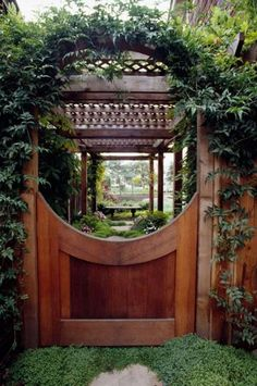 The wooden pergola is a good solution to add beauty to your garden. If you are not ready to spend thousands of dollars for building a cozy pergola then you may devise new strategies of trying out something different so that you can re Diy Pergola, Building A Pergola, Gazebo, Pergola Ideas, Wooden Garden Gate, Wooden Arbor, Garden Gates, Tor Design, Gate Design