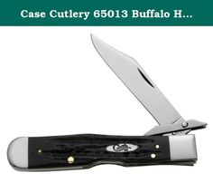 "Case Cutlery 65013 Buffalo Horn Cheetah Handle. The #65013 Case Buffalo Horn Cheetah with Tru-Sharp surgical steel Blades. The Cheetah measures 4-3/8"" closed, and weighs 3.5 oz. Revered for thousands of years, the Water Buffalo has been one of mankind's most useful resources. Likewise, the properties of Buffalo Horn make it a natural choice for handling knives. Each handle is uniquely jigged and hand finished. Specifications Pattern: BH111 1/2L SS Handle Material: Buffalo Horn Handle..."