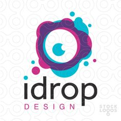 Logo Sold Modern, clean and bold design of an abstract eye design that's created with ink or water drops splatters.