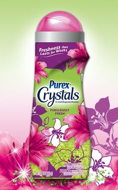 Purex Crystals – Fabulously Fresh: Infuse your clothes with this fresh, fun scent. Find it in the fabric softener aisle.