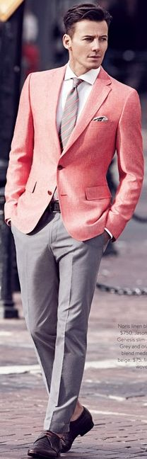 ❤ Love the spring colors and the light gray...great combination. Do we know him? Cool,,,,,,,