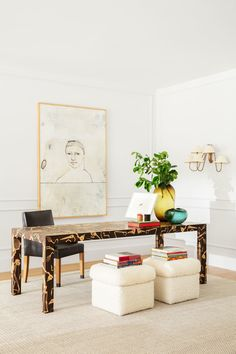 Tour the Florida home of Super Model Elle MacPherson and our favorite weekend sales and shopping on Design Chic. Home Office, Best Office, Office Spaces, Home Interior, Interior Design, Interior Styling, Huge Bed, Custom Headboard, Benjamin Moore Colors