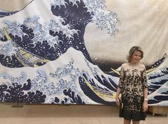 "Queen Mathilde visited the exhibition ""Ukiyo-e. The most beautiful Japanese prints"" at the Cinquantenaire Museum in Brussels"