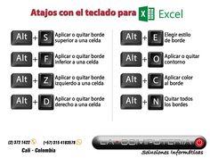 Atajos con el teclado para Excel